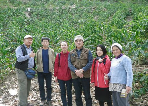 台湾コーヒー農園視察