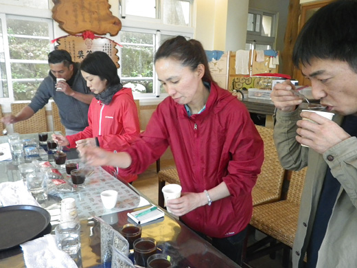 台湾産コーヒー豆のカッピング