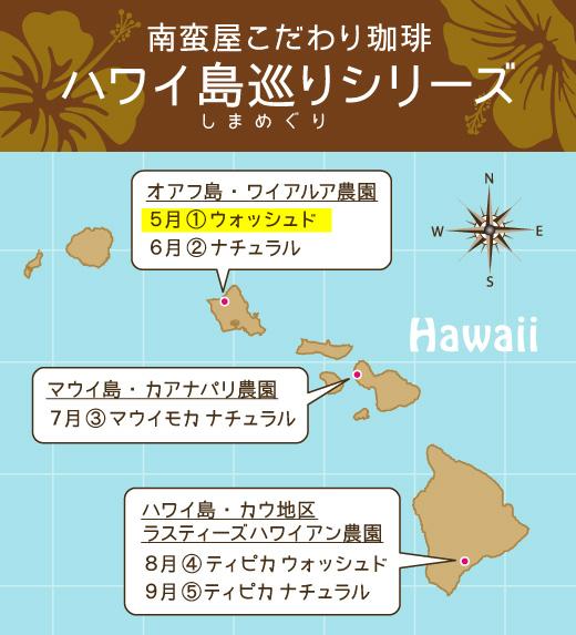 南蛮屋こだわりコーヒー『ハワイ島巡りの旅シリーズ』スタート!