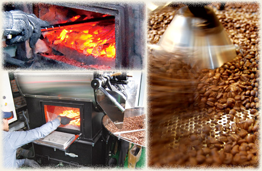 南蛮屋の炭火焙煎