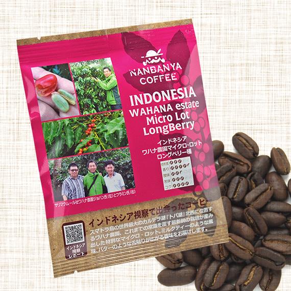 マイクロロットシリーズ 第2弾『インドネシア・ワハナ農園 ロングベリー種 ウォッシュド』