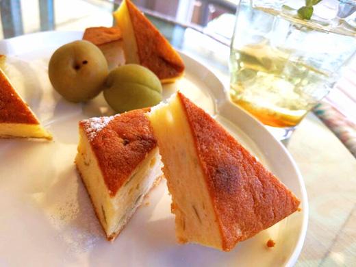 6月のスイーツは『梅酒のパウンドケーキ』