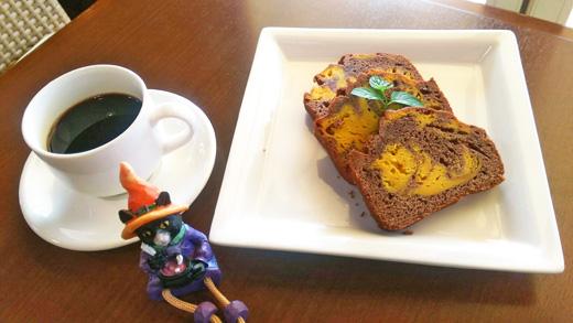 10月のスイーツ『ココアとかぼちゃのケーキ』