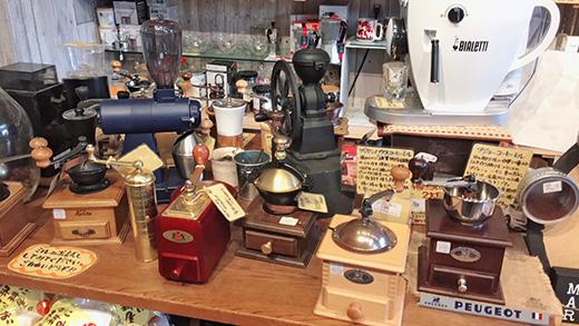 ミルやコーヒー器具
