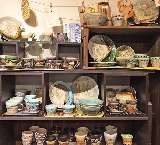 鶴琳窯の陶器