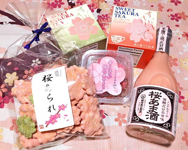 桜のお茶や甘酒