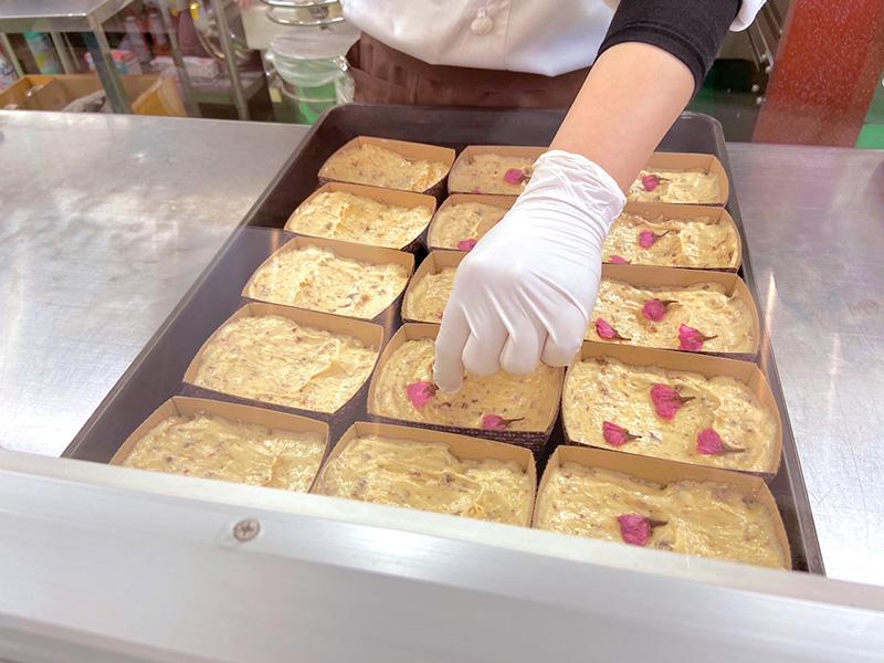 南蛮屋焼き菓子工房の桜のパウンドケーキ