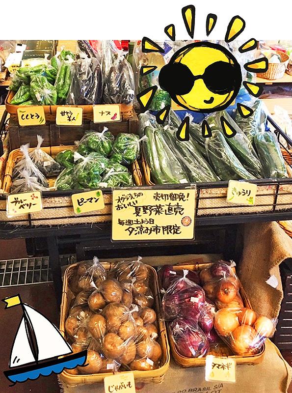 地元農家小倉さんちの夏野菜の直売
