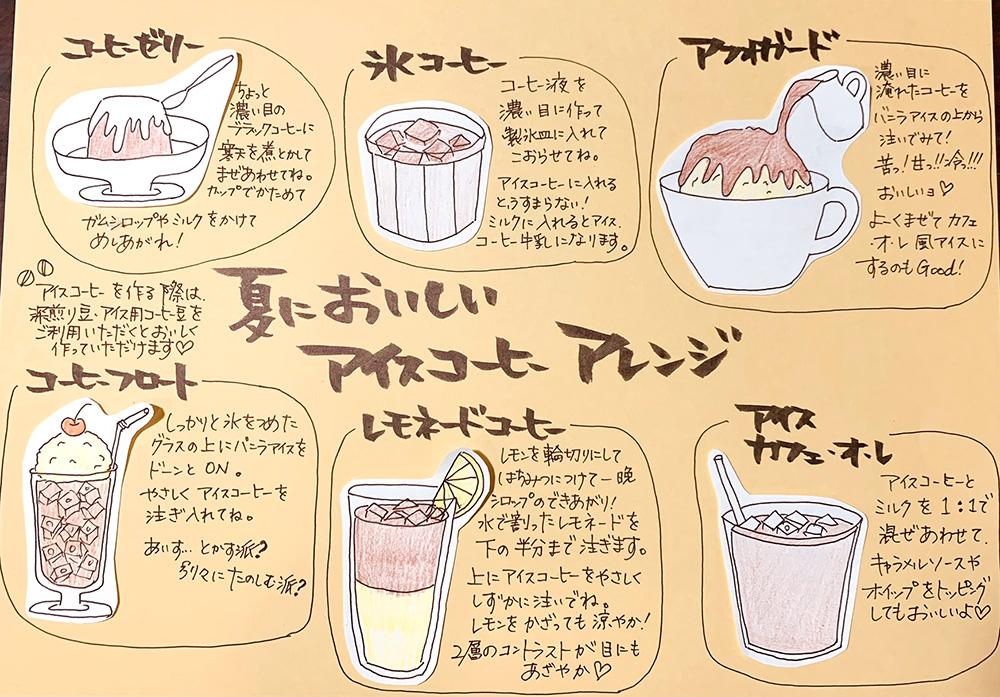 簡単にできるアイスコーヒーアレンジ