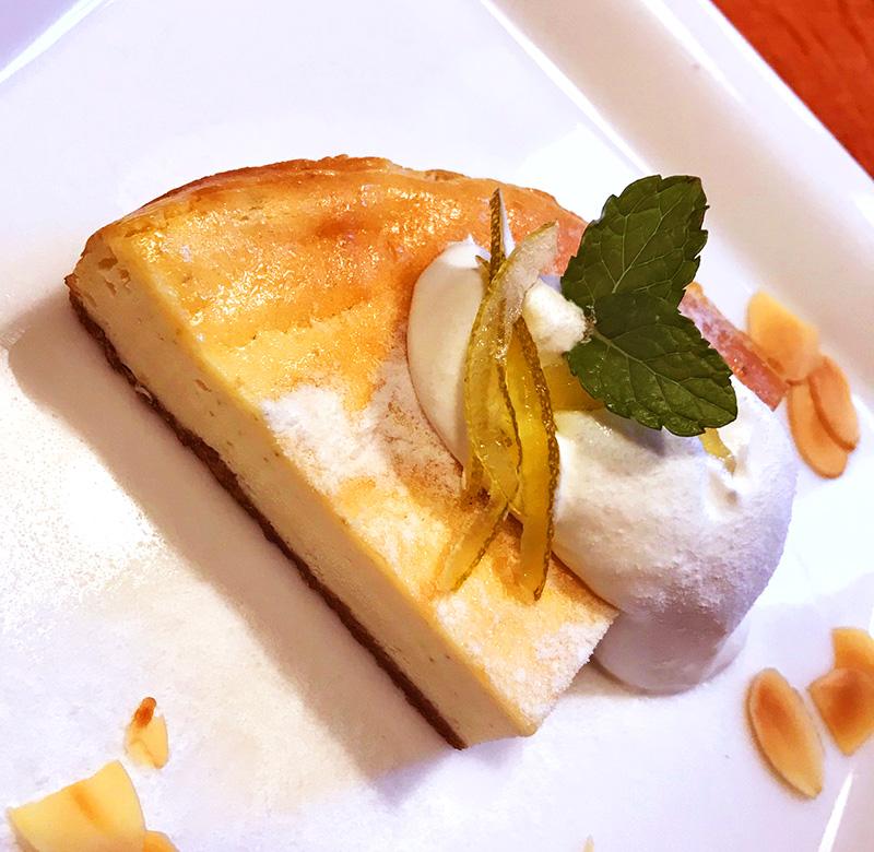 かぼすのチーズケーキ