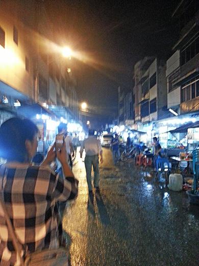 インドネシアの夜の町