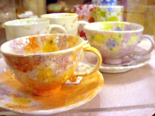 花柄の陶器