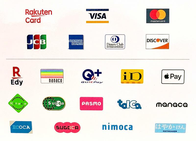 クレジットカード&電子マネー支払い