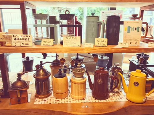 コーヒーのための器とグッズ展