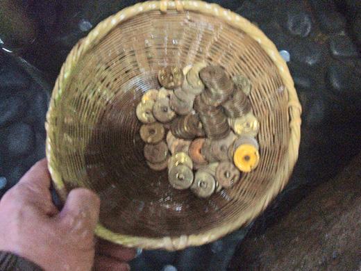 鎌倉銭洗い弁天で清めた「福銭」