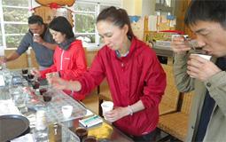 阿里山コーヒーのカッピング
